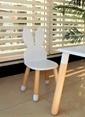 LaMoneta Beyaz Tavşan Sandalyesi Beyaz